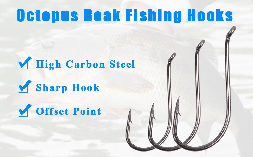 Sea Fishing Sport Circle Hooks 4//0-6 Pike Cod Pollock Ray Catfish Big Fish Hooks