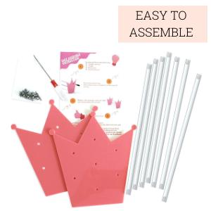 Easy to Assemble Acrylic Headband Holder Organizer