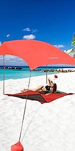 beach tent fill with sand no sun protector anchor weights umbrella tarp wind shade beach