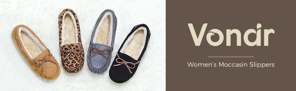 vonair womens moccasin slippers