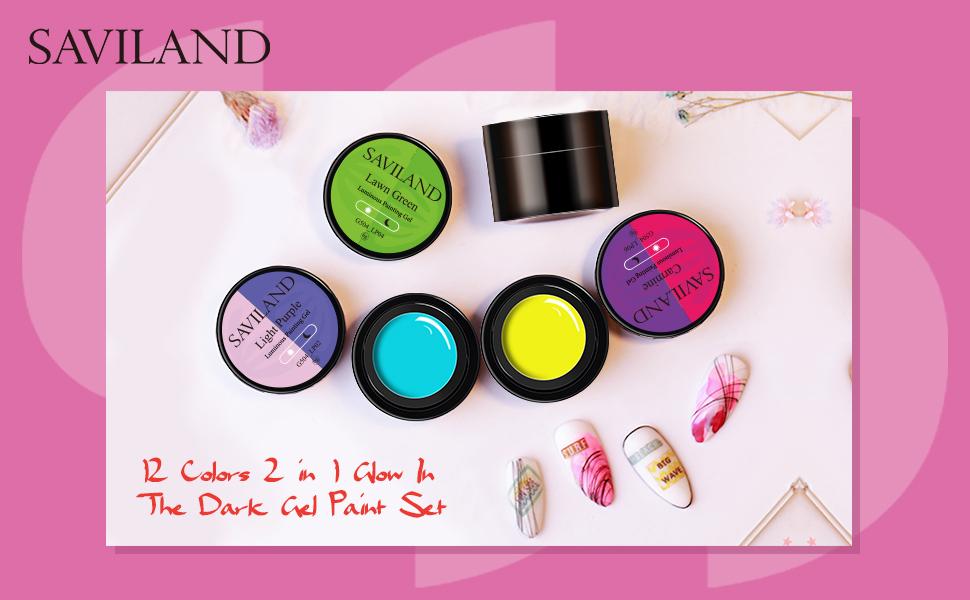 1.glow in dark gel nail polish