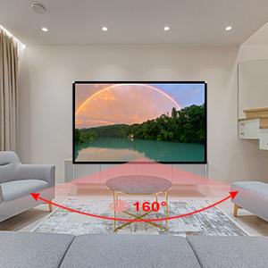 100 inch 160 wide angle