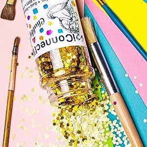 gold chubby glitter