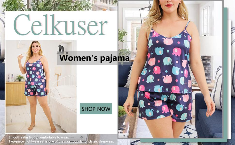 Sleeveless straps keep you cool and comfortable, cute elephant prints make you look even cuter.
