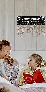 Joy-Leo Family Birthday Reminder Calendar Board - Model JL08