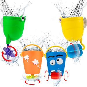 Rotating waterfall cup