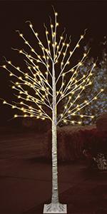 7ft Birch Tree- Warm White