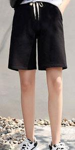 ladies plus size shorts bermuda shorts for women elastic waist shorts for women shorts for women