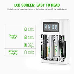LCD battery charger