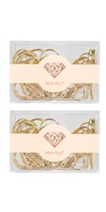 gold jumbo paper clips cute bookmark for women