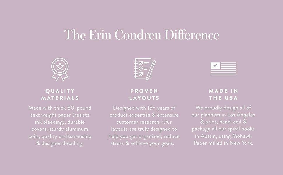 Erin Condren Difference