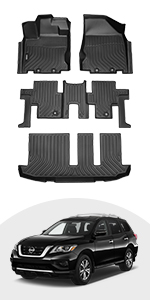 floor mats for nissan pathfinder 7 seat 2013-2020