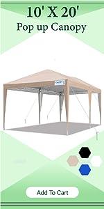 10 x20 pop up canopy tent