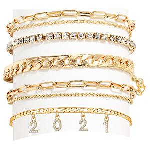 2021 ankle bracelets for women gold anklet