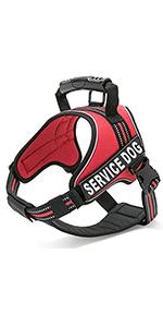 B01LHTB588 - Red Service Dog Vest Comp Chart