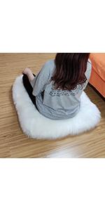 square floor pillow white