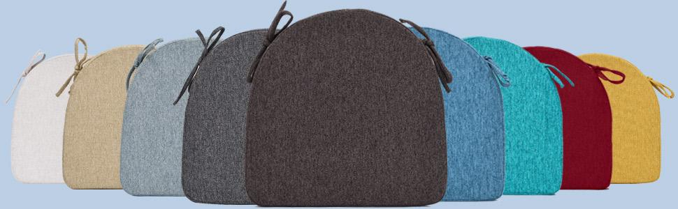 chair pillows seat cushions non slip chair pads 16x16 seat cushion