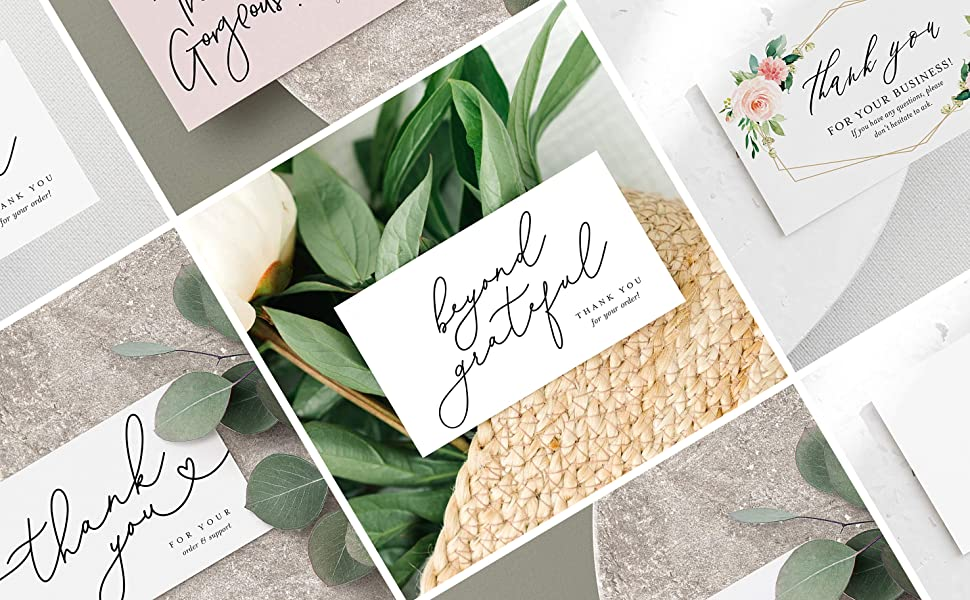Business Thank You Cards Collection Collage