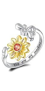 sunflower ring for women