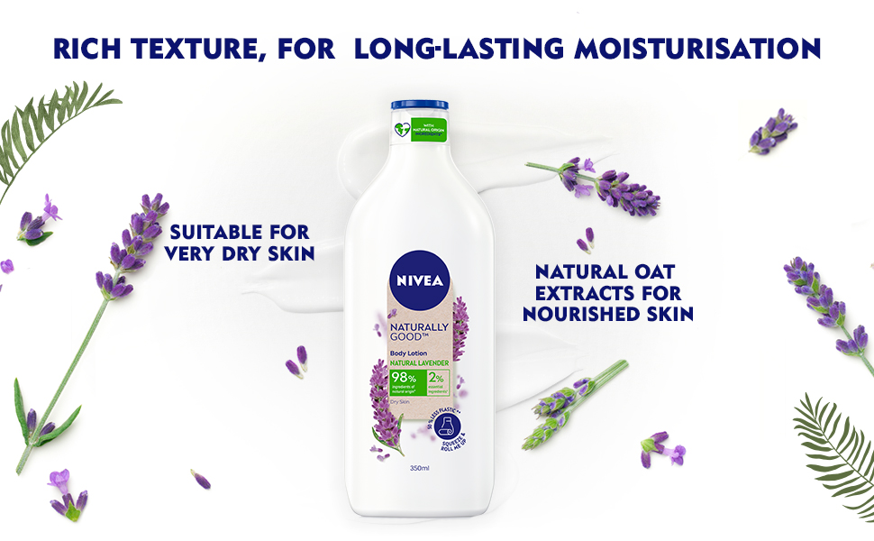 NIVEA,Women,Body lotion,Natural Ingredients,Nourisment,Moisturization