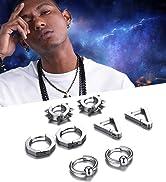 men women hiphop hoop earrings