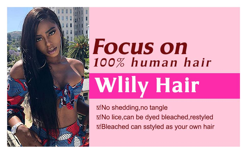 banner for straight human hair wig with bangs