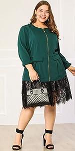 plus size green blazer