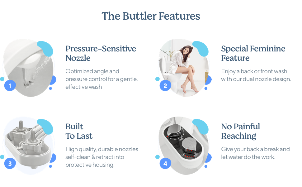 The Buttler Features: Pressure-Sensitive Nozzle, Special Feminine Feature, Built to Last