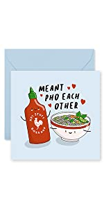 Food Pun Birthday Card Funny Greeting Card Noodles Asian Pho Fun Blue Central 23