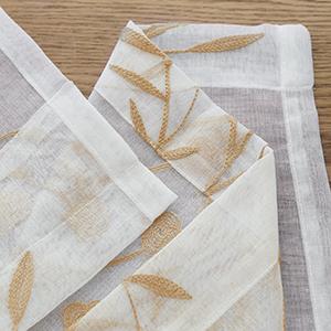 Window Treatments Semi Flower Pattern Curtain Panels for Kitchen, Yard, Farmhouse