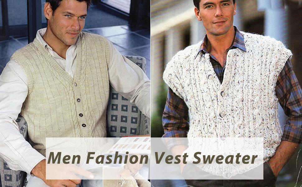 men knitted vest sweater