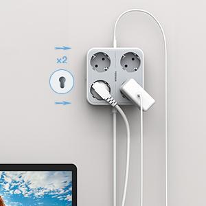 4 Fach Steckdosenleiste mit 3 USB