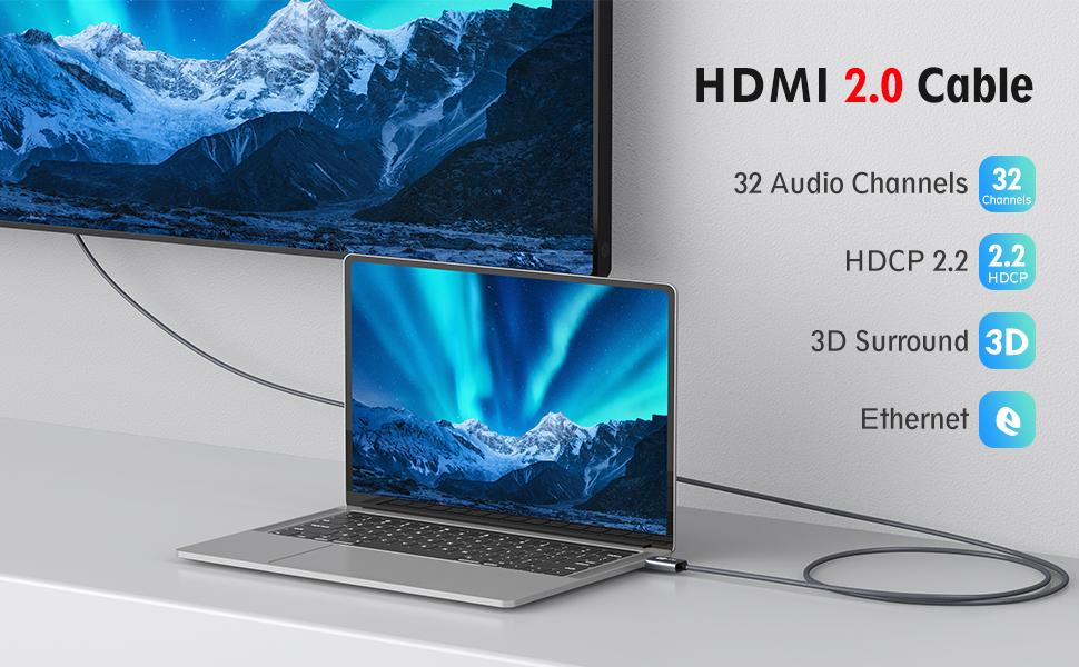 hdmi 2.1 cable high speed 2k 144hz