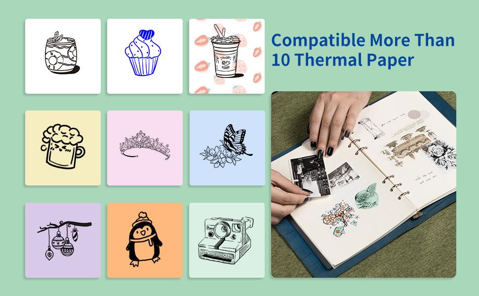 phomemo mini printer thermal for Journal, Notes, Memo, Photo