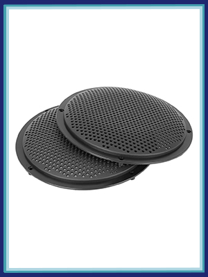 4pcs 8'' Car Audio Speaker Cover Mesh Subwoofer Grill Horn Guard Protector Black