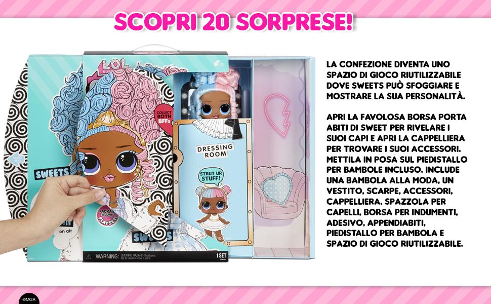 LOL Surprise OMG bambola alla moda SWEETS con 20 sorprese
