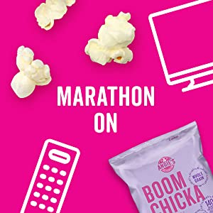 Marathon on with Angie's BOOMCHICKAPOP Kettle Corn for a convenient, easy snack