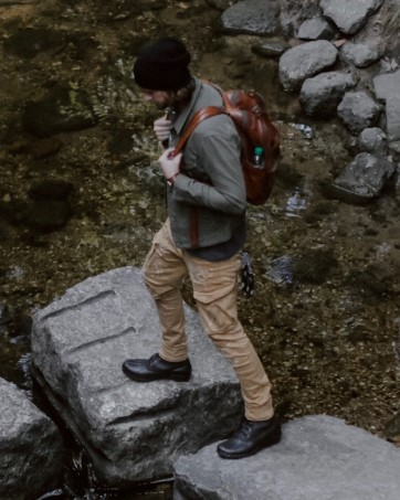 ALEADER duck boots for hiking