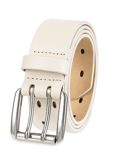 levi womens perforated leather belt double prong buckle