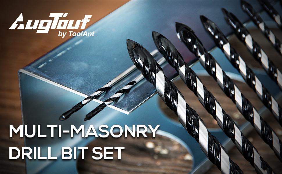 AugTouf Multi-masonry Drill Bit Set