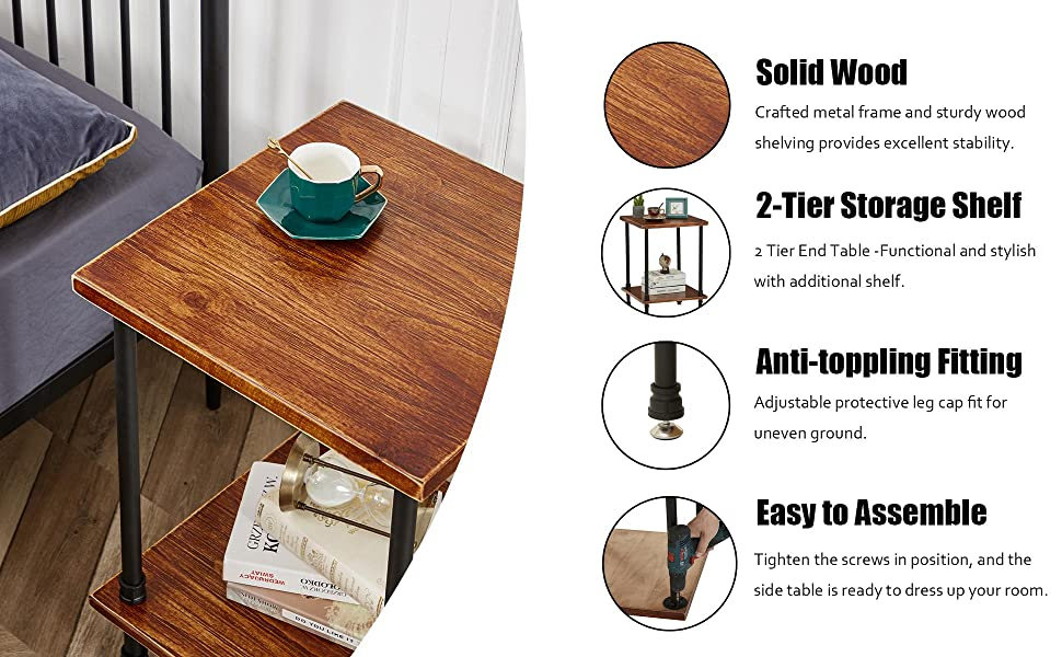 This durable accent table is one that will stick by your side.