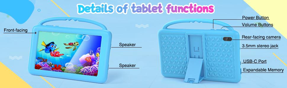 Details of tablet for kids