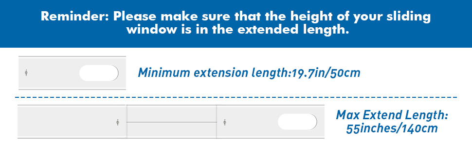 Reminder: Please make sure that the height of your sliding window is in the extended length.