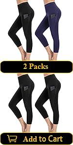 2 Packs Capri Yoga Pants for Women