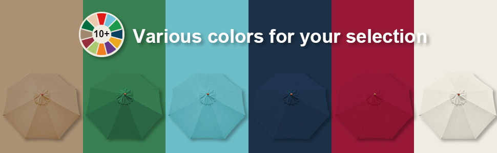 colorful umbrella canopy