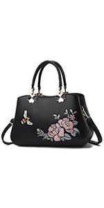 Small Satchel Bags For Women Crossbody Embroidery Top Handle Handbags Ladies Shoulder Purse
