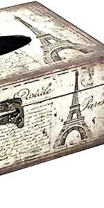 Bellaa Tissue Box Cover Paris Rectangular Europe Modern Napkin Holder Bathroom Organizer