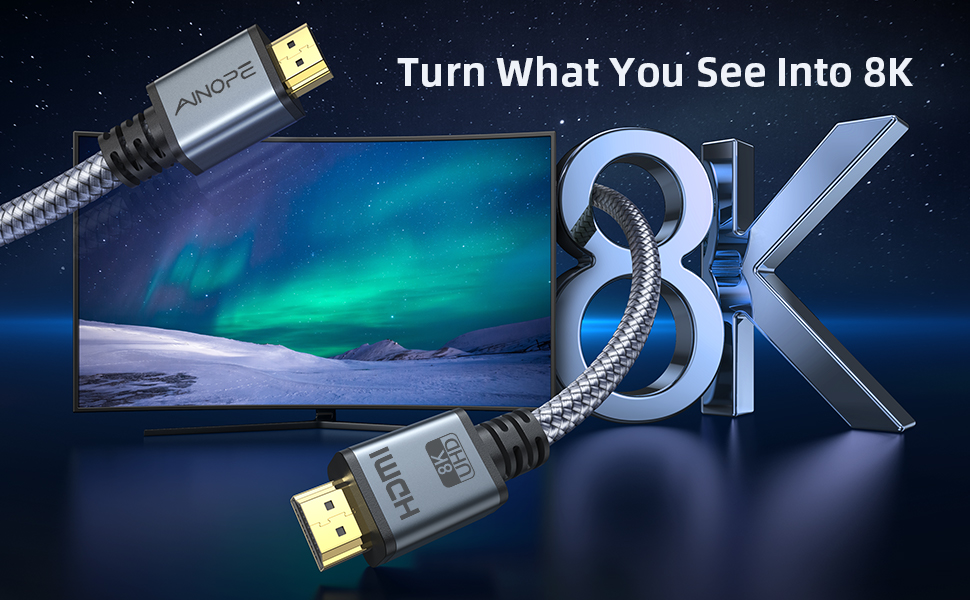 8K Technology, turn what you see into 8k