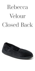 Rebecca Velour Closed Back