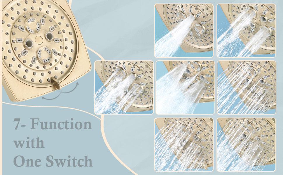Gold Brass Tub Shower Faucet trim kit  Set with Valve